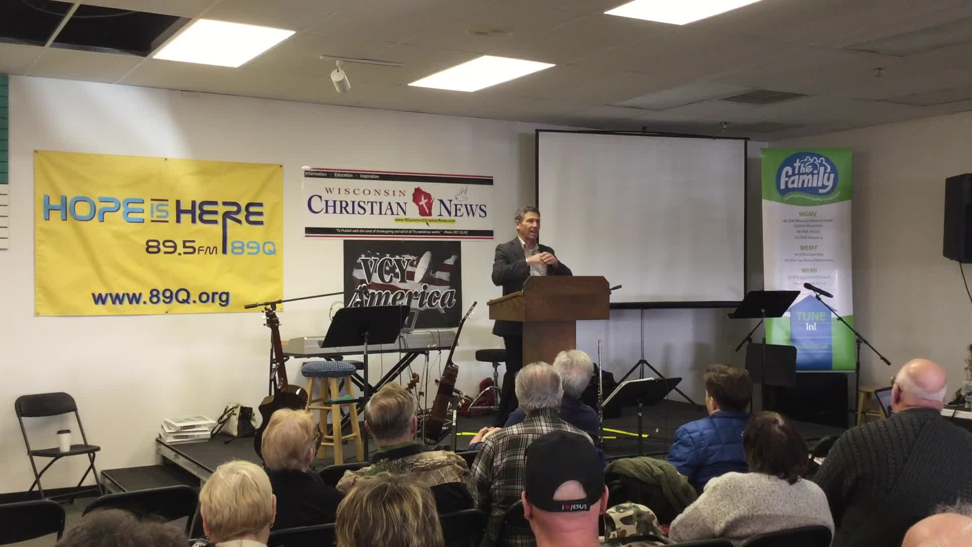 Pastor Terry Fischer at the 2017 Wisconsin Christian News Ministry Expo and Conference